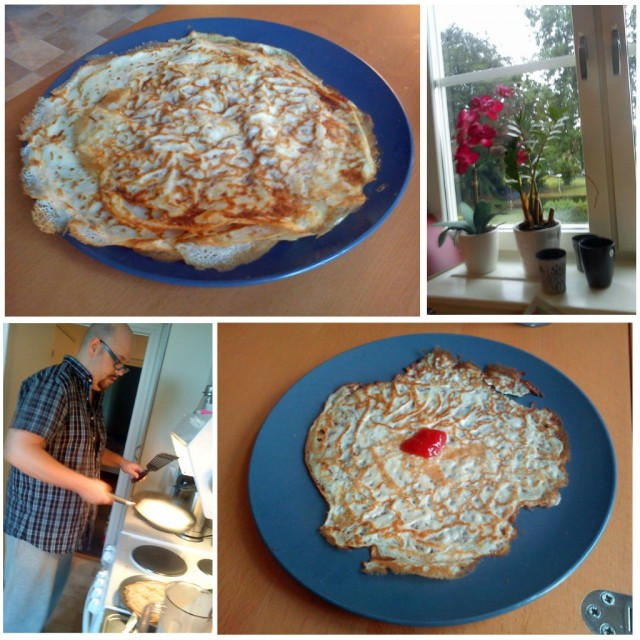 2011-07-22 Dagens middag blev hemlagade pannkakor
