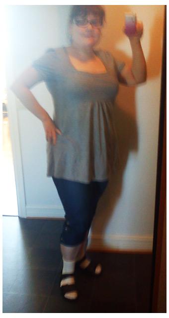 Dagens klädsel; kappahl topp och capri jeans