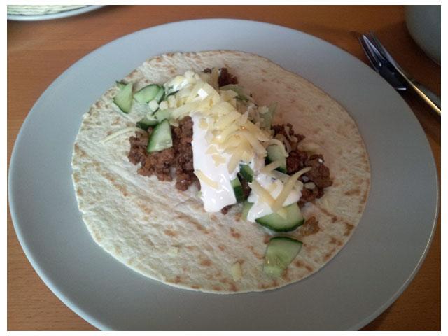 Dagens middag: burritos