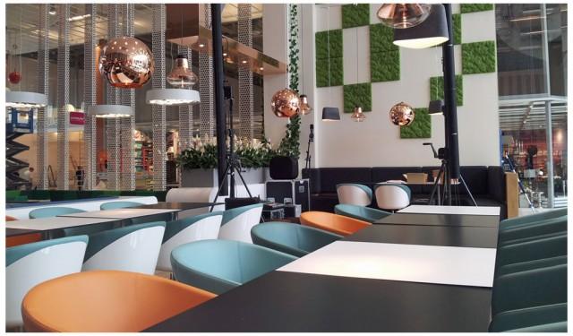 Vy över Väla Köpcenrums nya Restaurangtorg