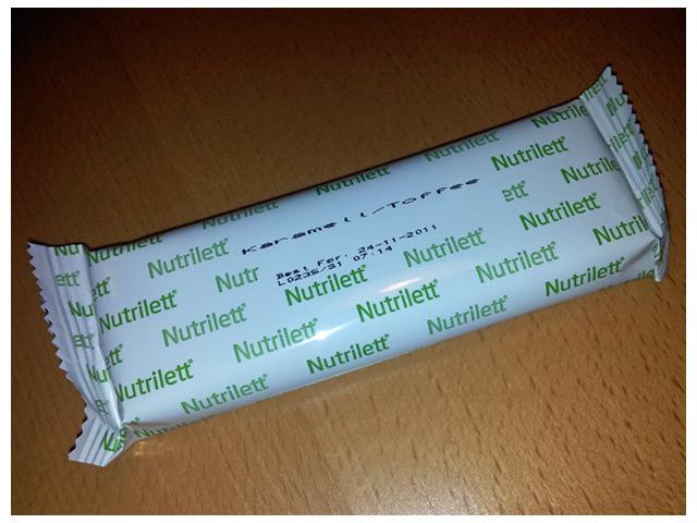 2011-08-26 Fredags middag: Nutrilett caramell meal bar