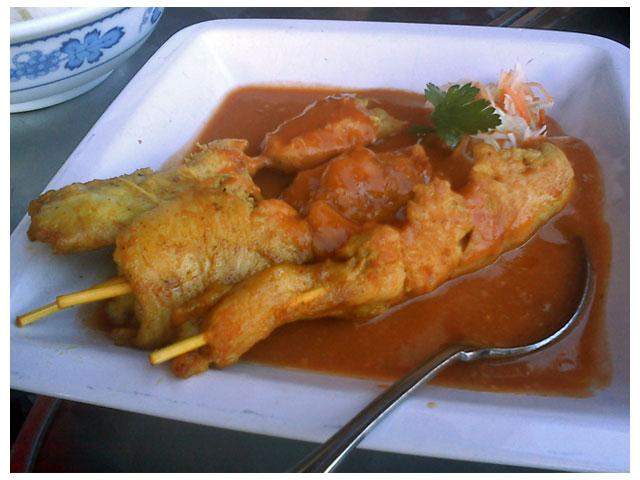 Kyckling Satay med jordnöttssås