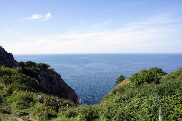 Utsikt från toppen av Kullaberg, foto taget av Mattias