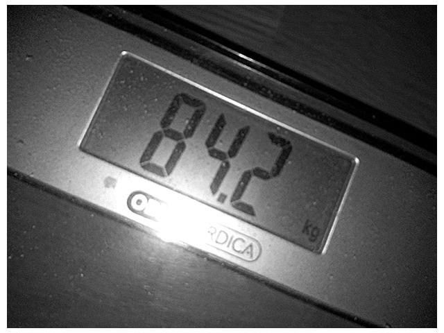 2011-09-10 Dagens vikt 84.2 kg