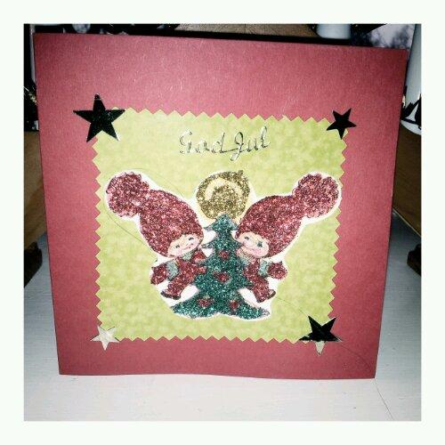Mammas handgjorda julkort - Helen J Holmberg blogg