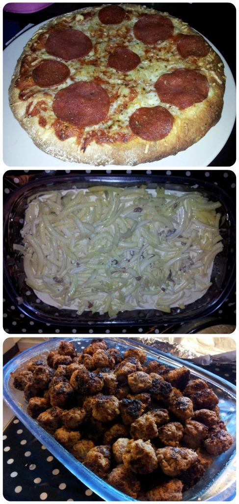 Lille julaftonsmiddag - pizza, lagade janssons och köttbullar till julafton