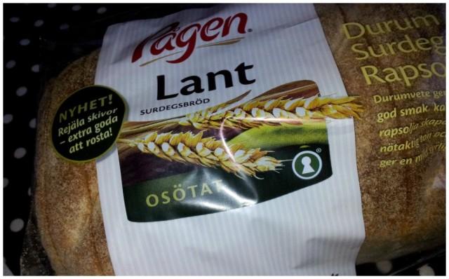 Pågen Lant - surdeg, durumvete, bakat på rapsolja och är laktosfritt