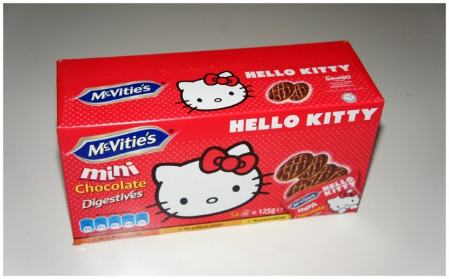 McVities Hello Kitty Choklad Digestive kex, 3 propoints/påse