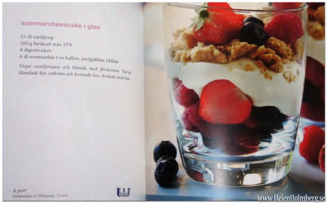 Viktväktarna sommar cheesecake i glas 5 propoints per portion