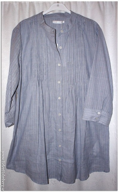 Blåvitrandig lång blus/tunika från Only