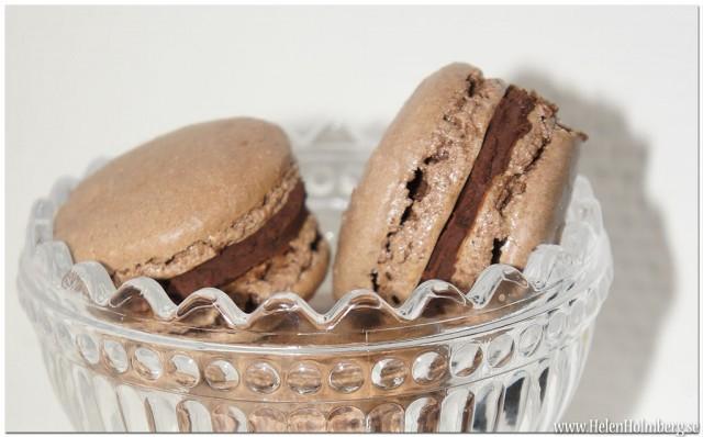 Franska chokladmakroner