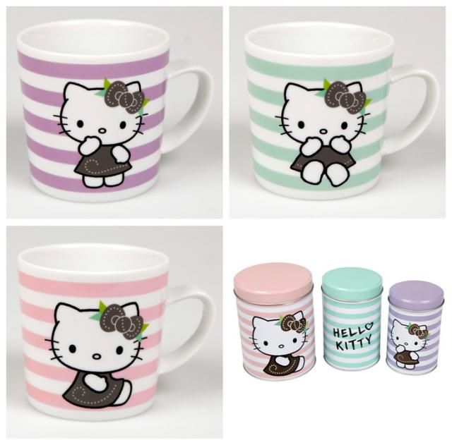 Hello Kitty muggar och plåtburkar