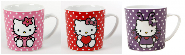 Prickiga Hello Kitty muggar