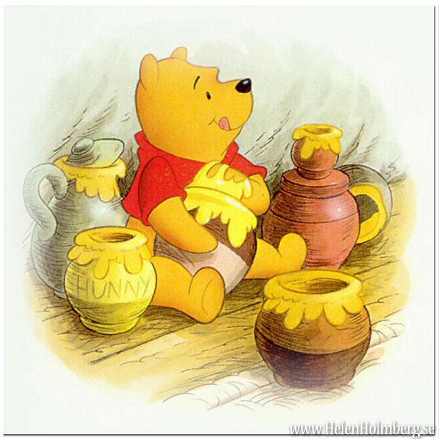 Nalle Puh älskar sin honung