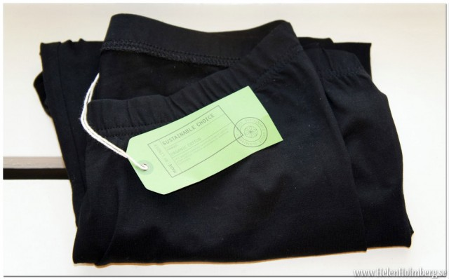 Svarta Leggings i ekologisk bomull från Lindex 99 kr