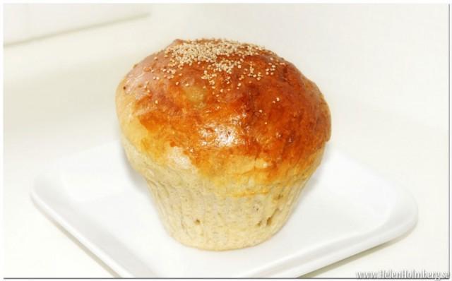 Kryddat brytbröds frukostbulle