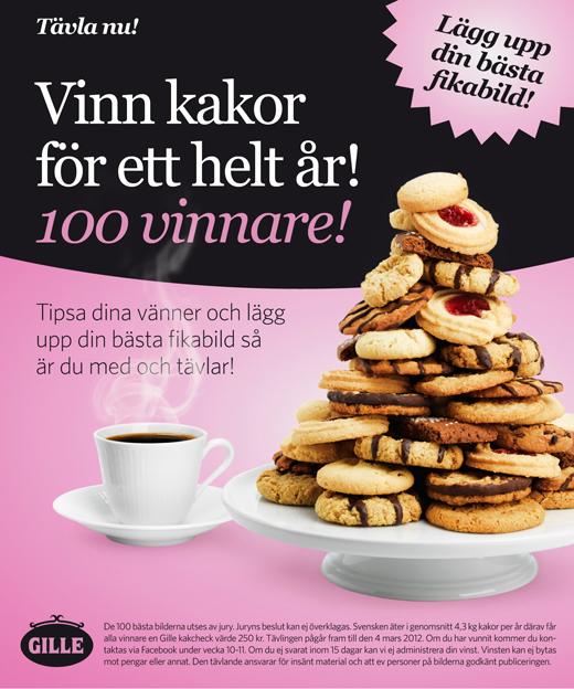 Gille kakors facebook tävling mars 2012
