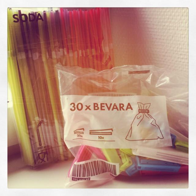 Viktiga köp på IKEA påsklämmor och sugrör