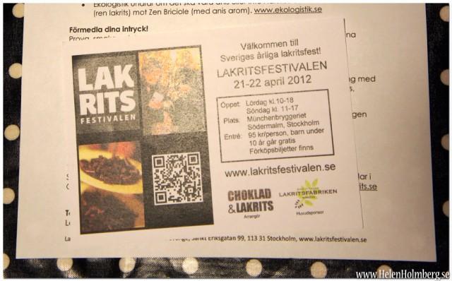 Lakritsfestival Stockholm 21-22 april, 2012