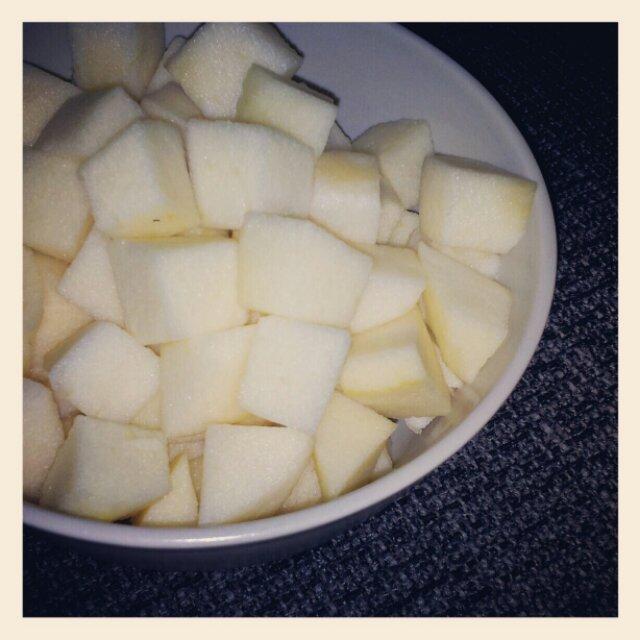 Äppelbitar