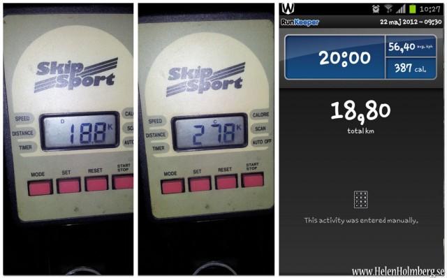 Runkeeper, cykeldata, träning, cykel, motionscykel