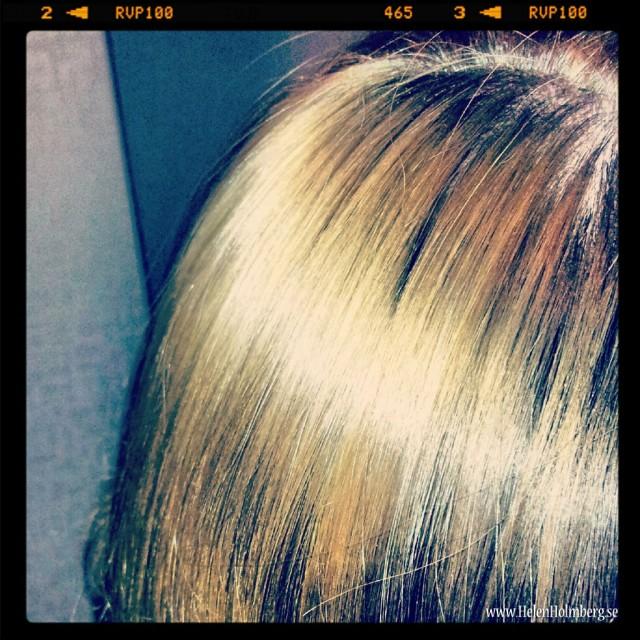 Blondishår eller snarare gyllene överhår i håret