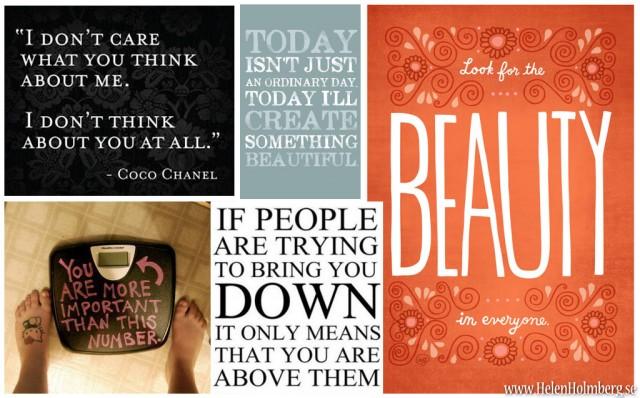 Inspirationsbild med citat och tänkvärda ord
