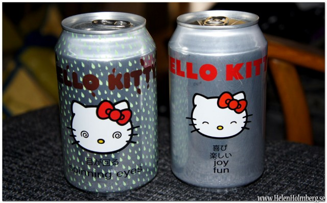 Hello Kitty läsk med hallon och päronsmak 5 kr /burken från Gekås Ullared AB