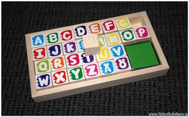 Stämplar med bokstäver från Gekås, Ullared