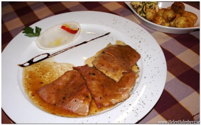 Secondi på linetti - Saltinbocca alla Romana, Kalvfilè med vitvin, parmaskinka och färsk salvia