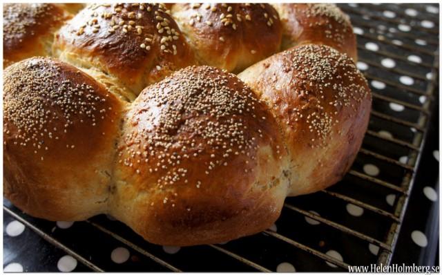 Kryddat brytbröd bakat i springform