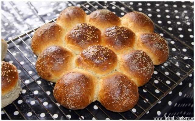 Kryddat brytbröd bakat direkt på plåt