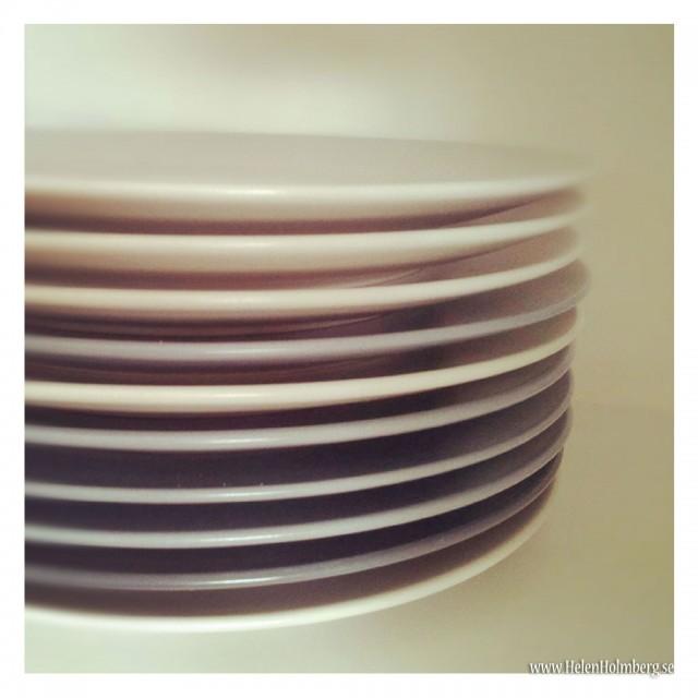 Fyllde på med 4 nya Dinera gråblå tallrikar