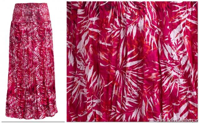 Röd-rosa långkjol /maxiklänning från KappAhl strl 44/46 pris 199 kr