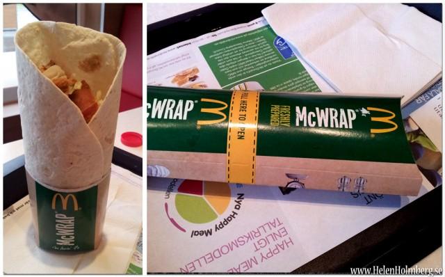 Kyckling bacon wrap från McDonalds