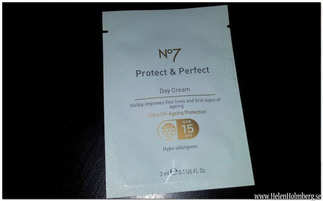 produktprov på No7 Protect & Perfect Intense Day Cream