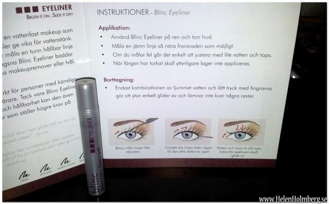 produktprov på Blinc liquid eyeliner svart