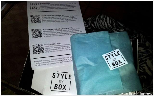 Spännande skönhets produktprover från style by box