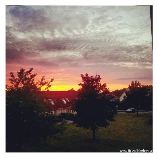 Solnedgång i Mörarp