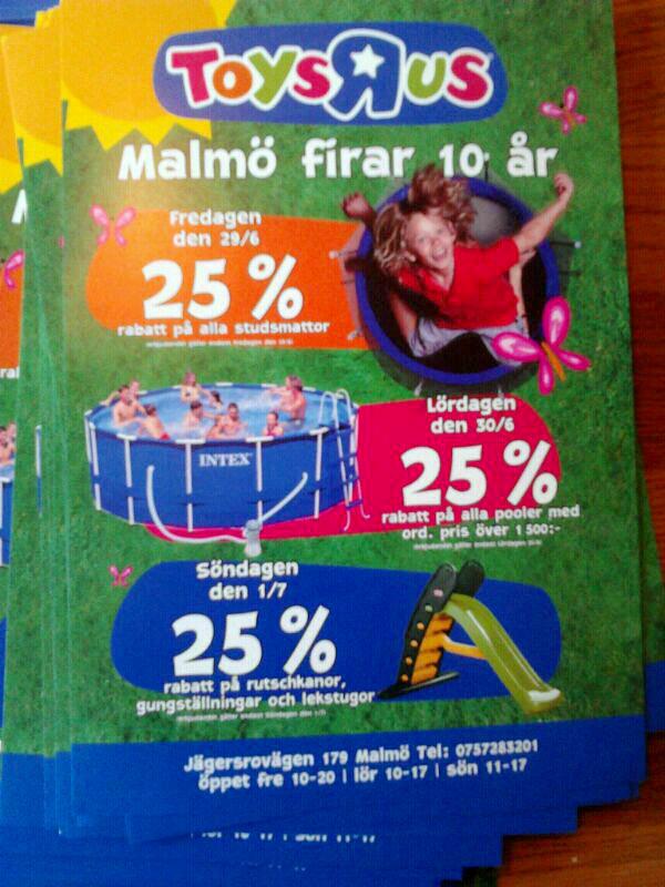 10 års jubileum på Toys'R us Malmö, juni 2012