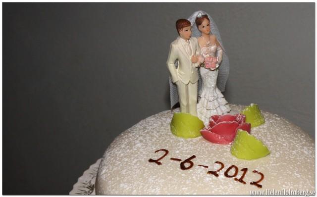 Bröllopstårtan i närbild