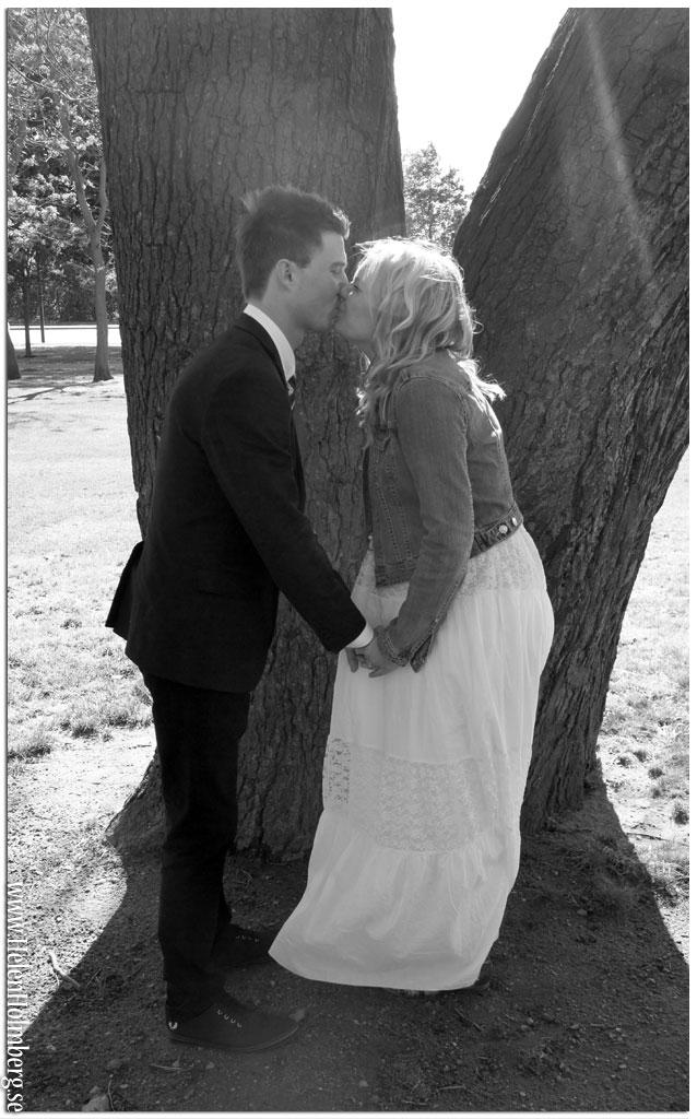 Brudparet i Helsingborgs stadspark