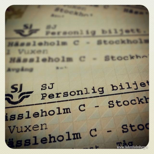 Biljetterna till Stockholm hämtade