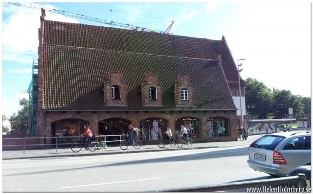 Fantastisk byggnad vid Holstentorplatz, Lubeck