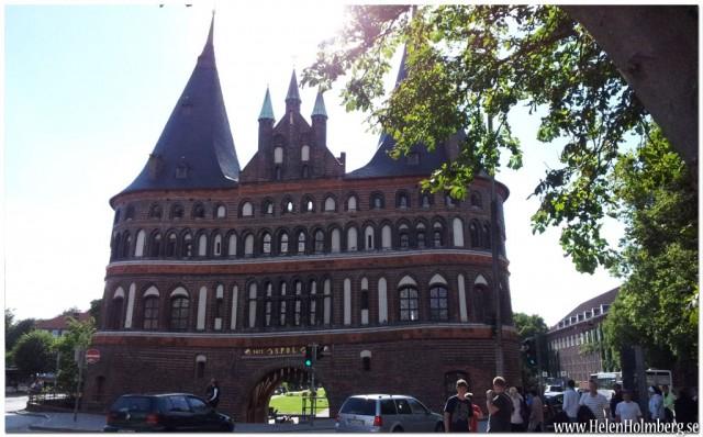 Fantastisk byggnad Holstentorplatz, Lubeck