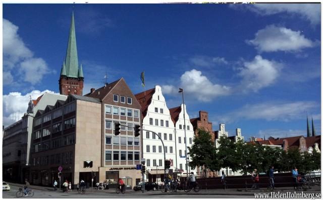 Utsikt med Holstentorplatz i ryggen, Lubeck