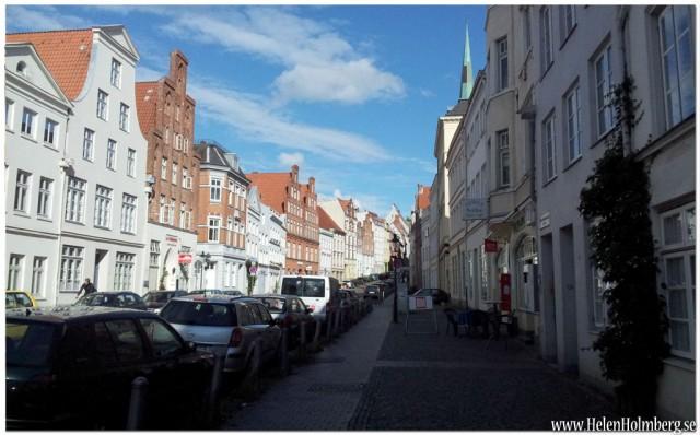Långbranta gatan Engelsgrube , gamla stan Lubeck