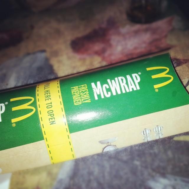 Söndagsmiddag från McDonalds - kyckling & bacon McWrap