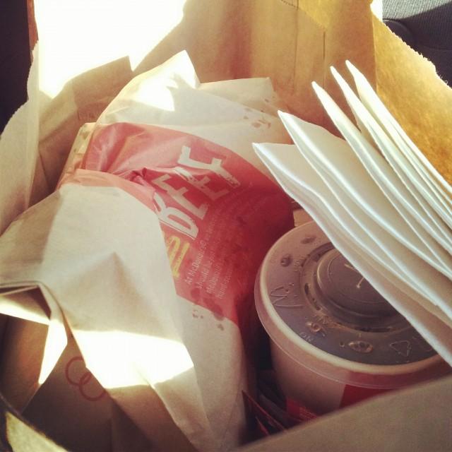 Fuskat med McDonalds mat idag igen