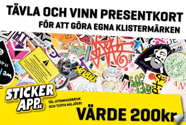 Tävla och vinn presentkort på Sticker app. värde 200 kr med helenholmberg.se